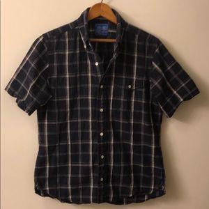 J.Press Short Sleeved Buttoned Down Shirt, Navy